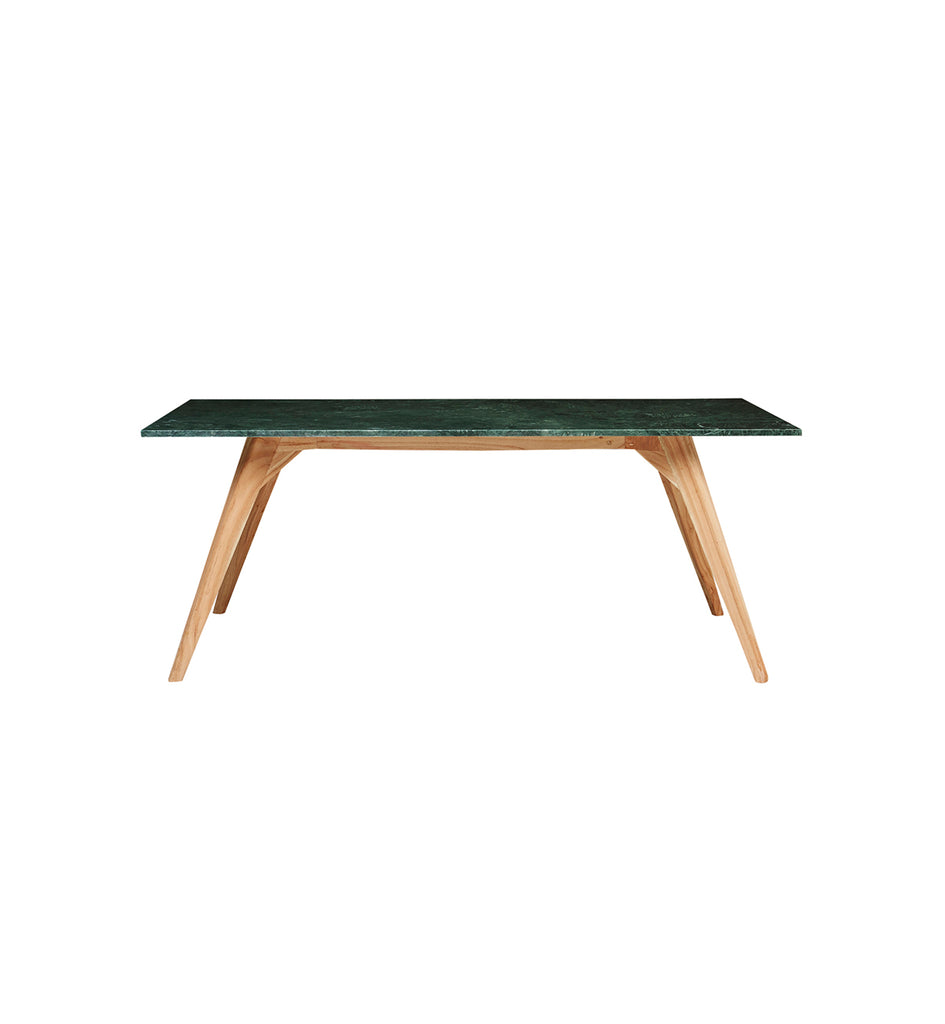 Woodrow Rectangle Marble Dining Table In Green Fenton Fenton