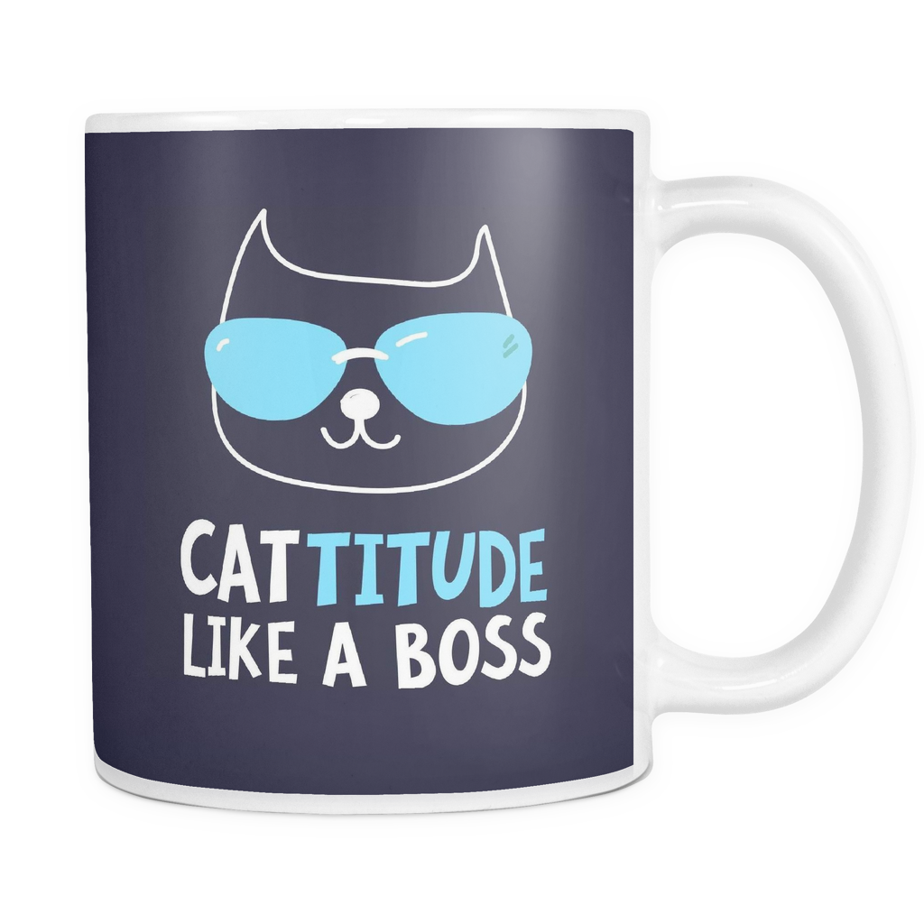 The Cat-titude Mug - Insane Mugs