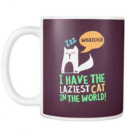 The Lazy Cat Mug-Coffee Mug-Funny-Sarcastic-Tea-Cup-Ceramic-InsaneMugs.com