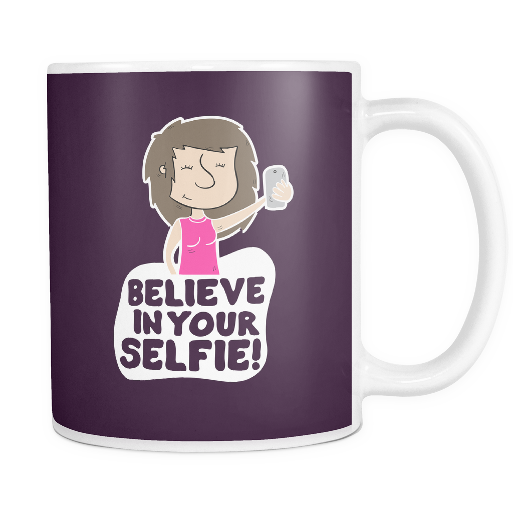 The Selfie Mug-Coffee Mug-Funny-Sarcastic-Tea-Cup-Ceramic-InsaneMugs.com
