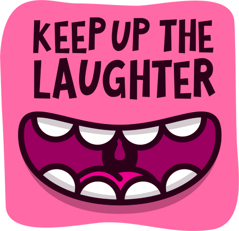 "The ""Laughter"" Sticker - Insane Mugs"