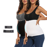 2-Pack Seamless Maternity Belly Bands With Pants Extender