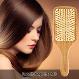 Natural Bamboo Bristle Hair Brush Square Large For Sale