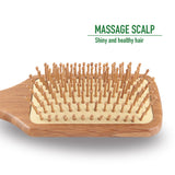 Natural Bamboo Bristle Hair Brush Square Large