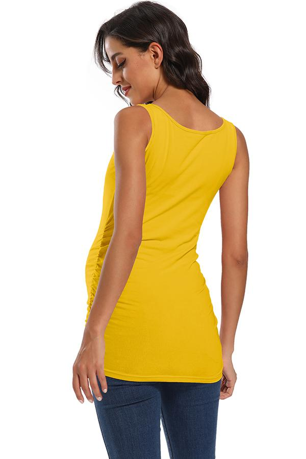 Basic Ruched Maternity Tank Top
