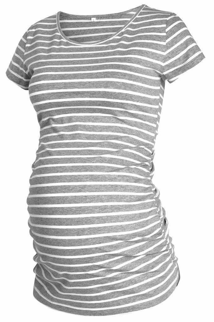 Casual 3-Pack T-Shirt Ruched Pregnancy Tops
