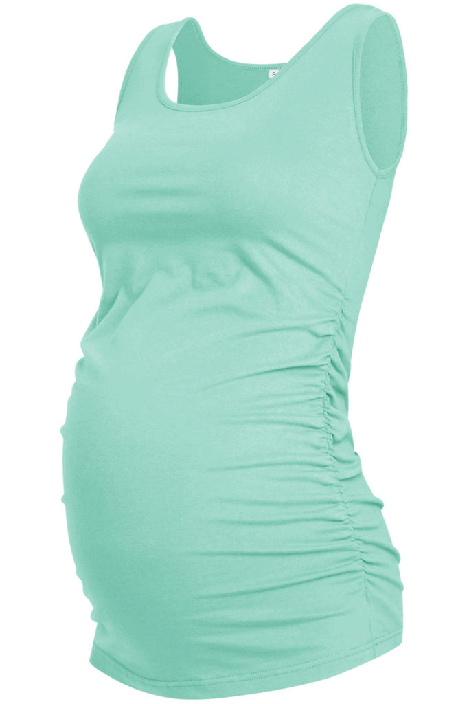 Casual Solid Maternity Tank Top