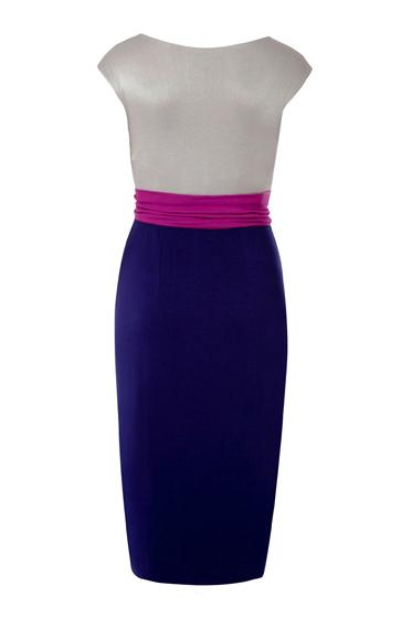 Colorblock Sleeveless Front Tie Maternity Dress
