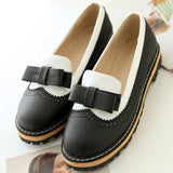 Colorblock Bowknot Flats Mary Jane Umstandsschuhe