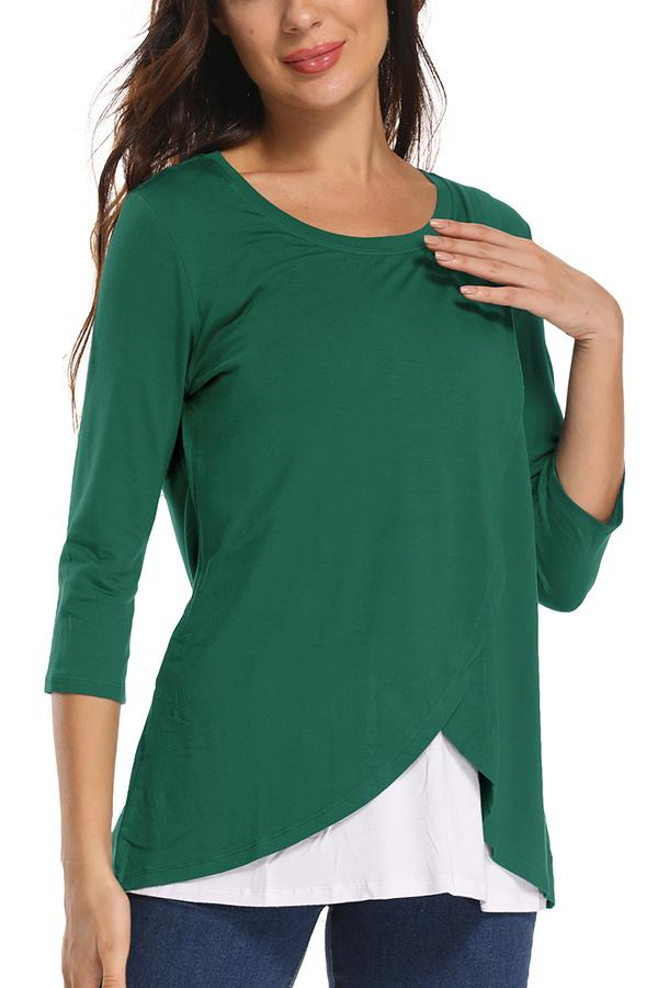 Comfy Women's Nursing Tops For Breastfeeding Maternity Shirt