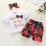 [6M-4Y] Nettes Baby Sommer Bequemes T-Shirt mit Shorts