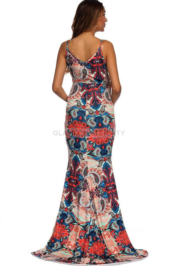 Floral Long Mermaid Umstandskleid