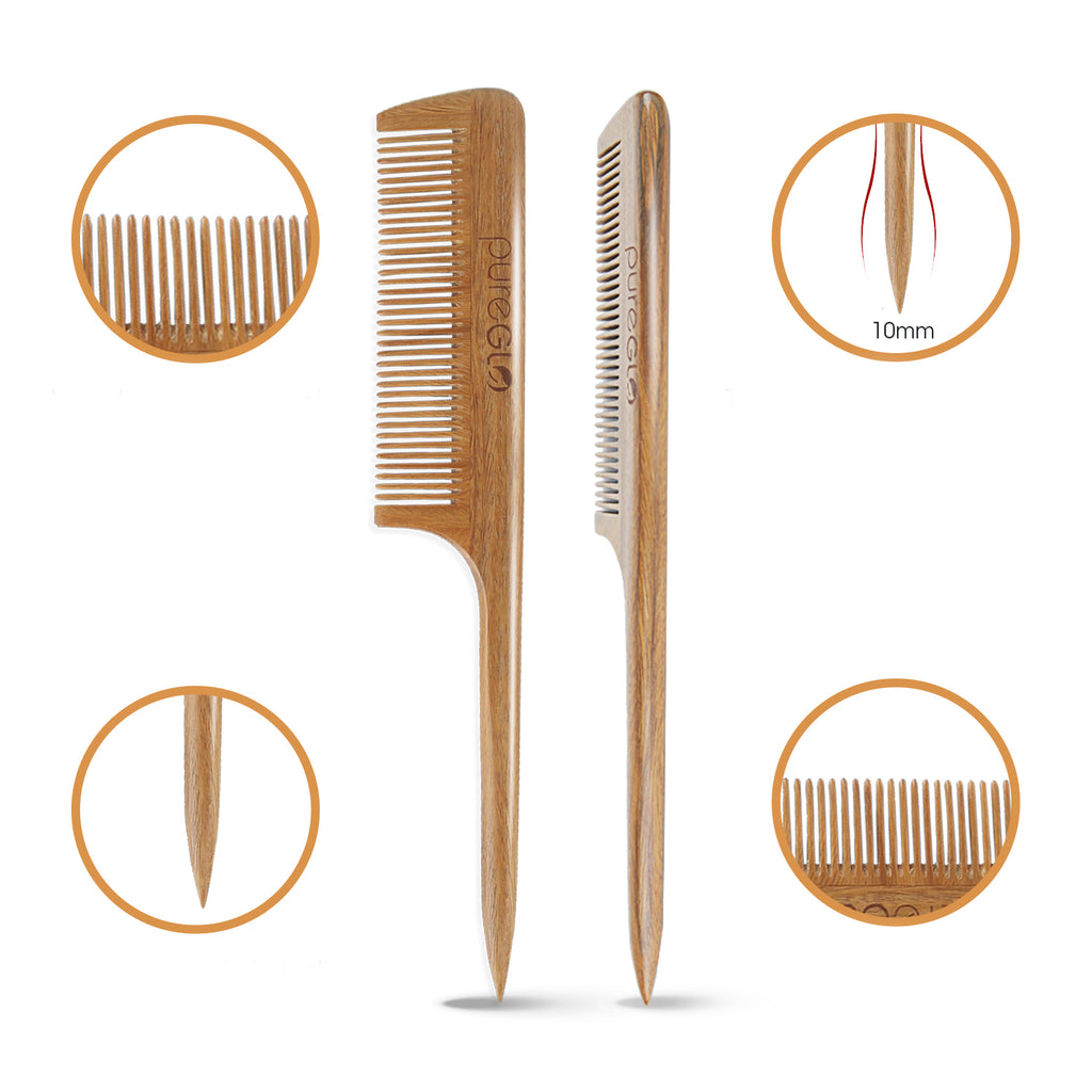 Natural Anti-static Wooden Teasing Hair Comb