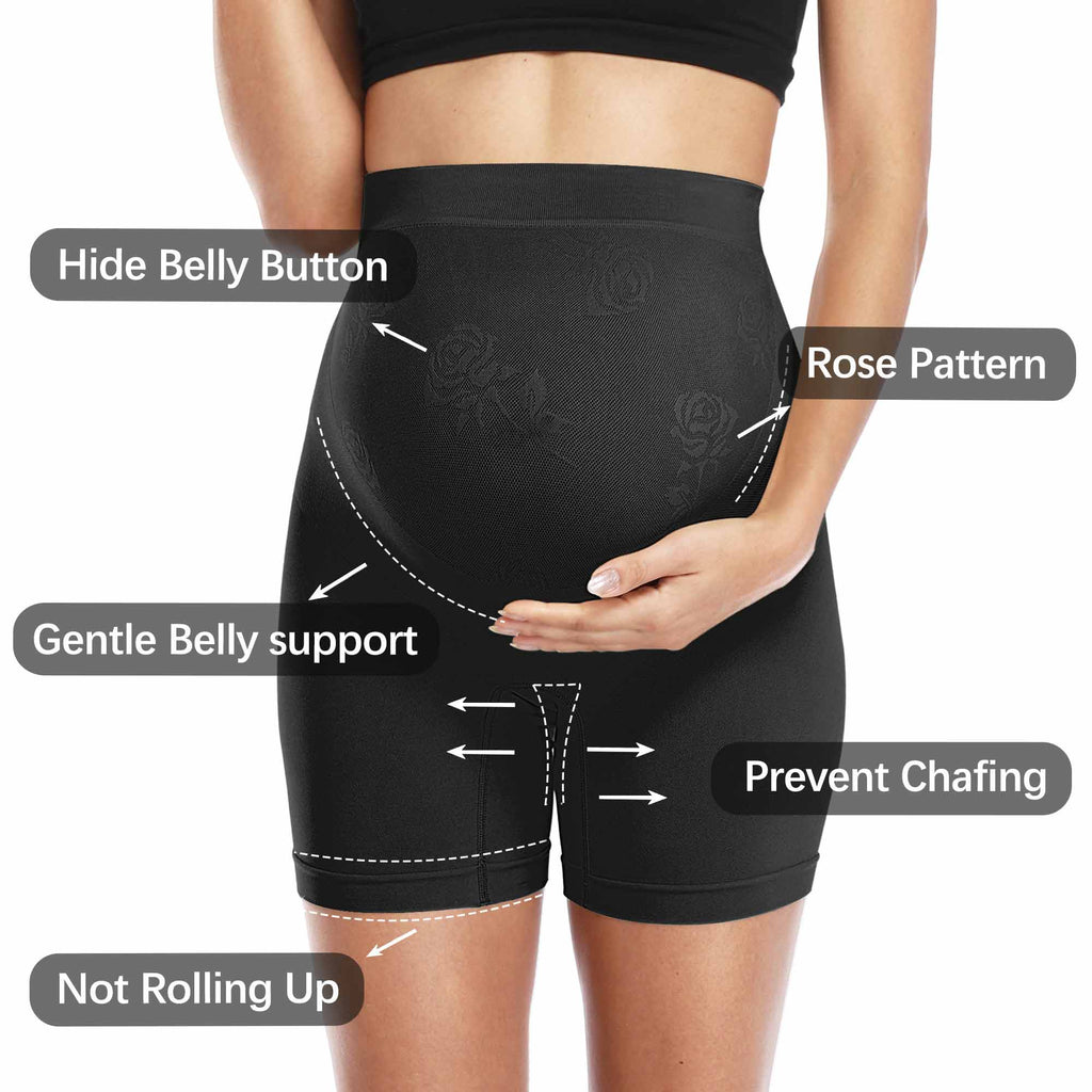 2er Pack Black Seamless Shapewear Maternity Belly Support Höschen