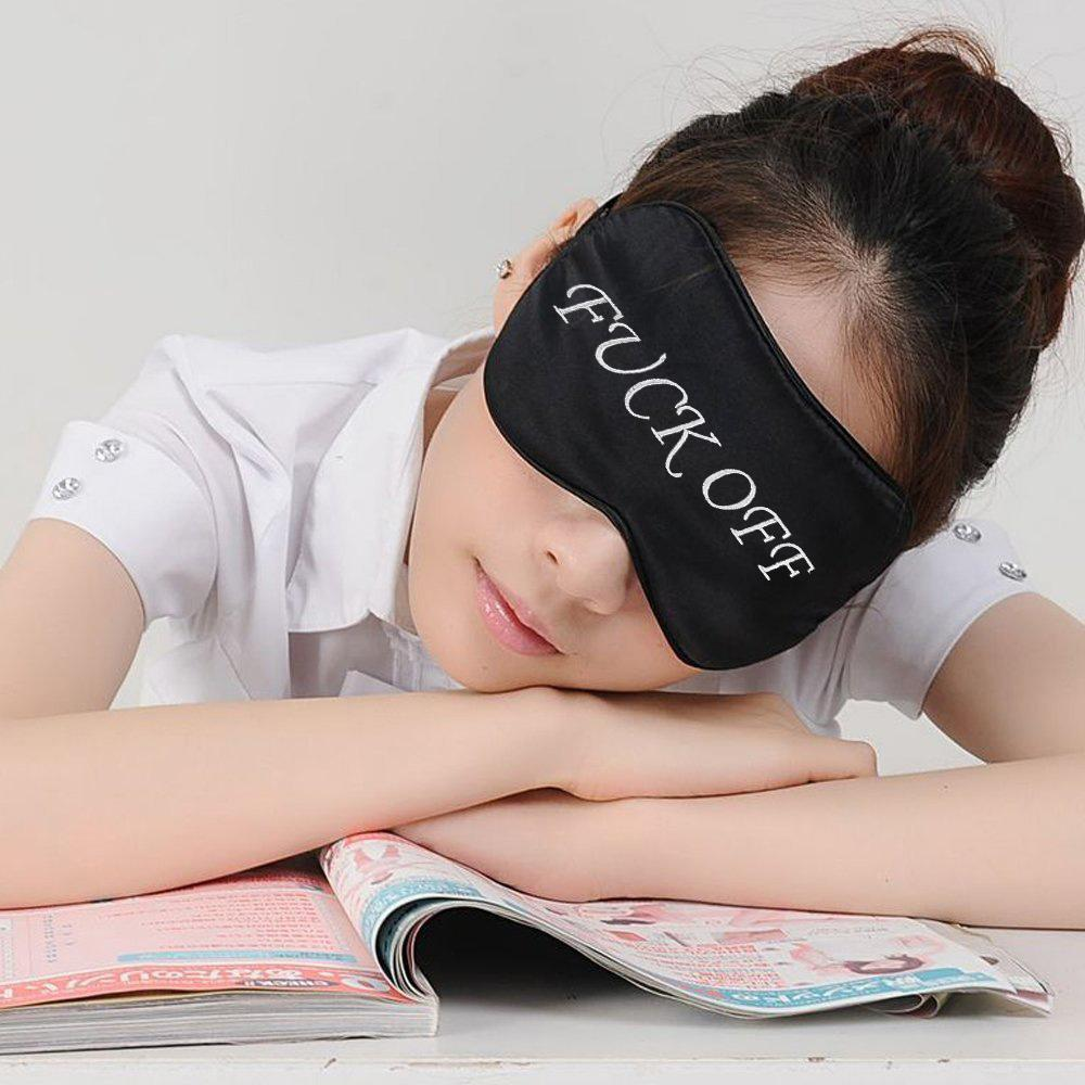 Natural Pure Silk Eye Mask With Letters