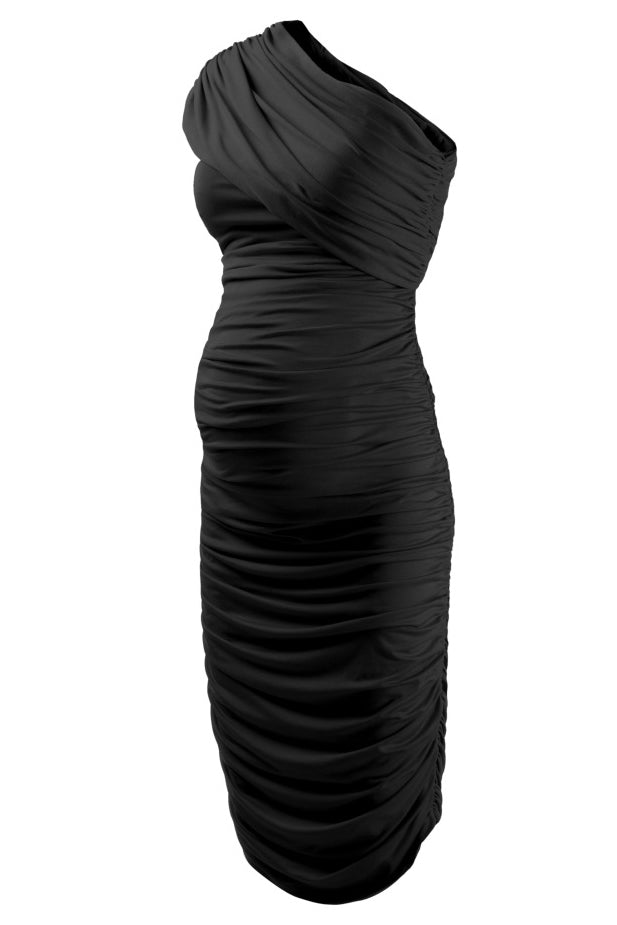 One Shoulder Empire Waist Sexy Maternity Dress