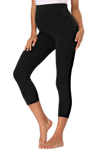 Over Bump Pränatale Yoga Activewear Mutterschaftsgamaschen Black / S Bottoms