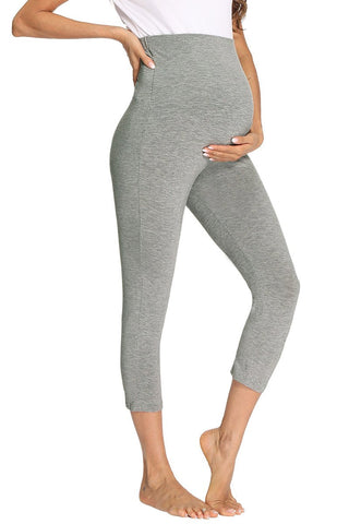 Over Bump Prenatal Yoga Activewear Maternity Leggings Gray / S Bottoms