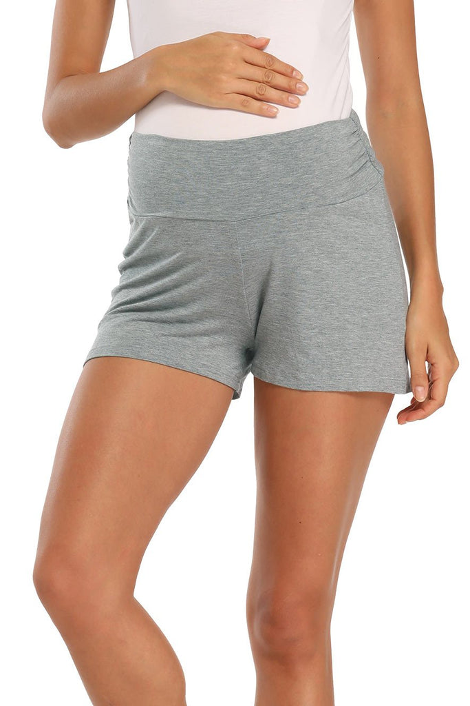 Over Bump Pregnancy Activewear Workout Maternity Shorts Gray / S Bottoms