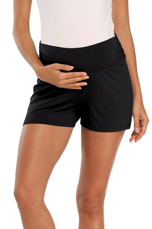 Over Bump Schwangerschaft Activewear Workout Umstandsshorts Black / S Bottoms