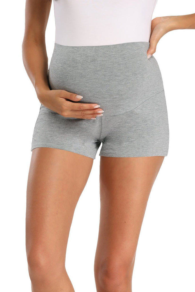 Pregnancy Activewear Over Bump Stretchy Maternity Shorts Gray / S Bottoms