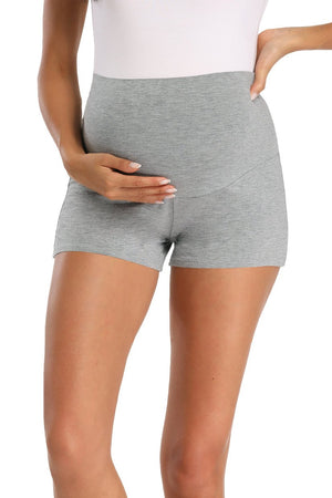 Schwangerschaft Activewear Over Bump Stretchy Umstandsshorts Grey / S Bottoms