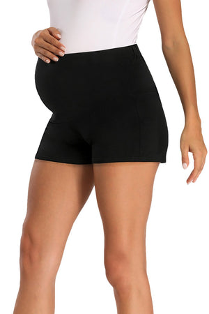 Schwangerschaft Activewear Over Bump Stretchy Umstandsshorts Black / S Bottoms