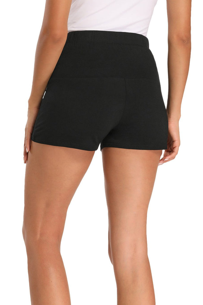 Pregnancy Activewear Over Bump Stretchy Maternity Shorts Bottoms