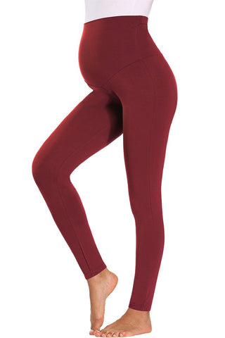 Solid Maternity Tight Active Leggings Prenatal Yoga Pants