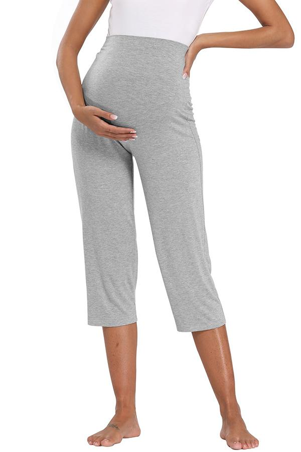 Stretchy Maternity Lounge Workout Capri Pränatale Yogahose