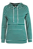 Striped Drawstring Maternity Nursing Hoodie