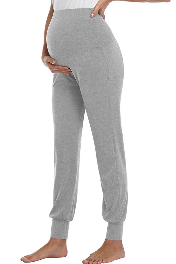 Wide Waistband Prenatal Yoga Pants With Pockets