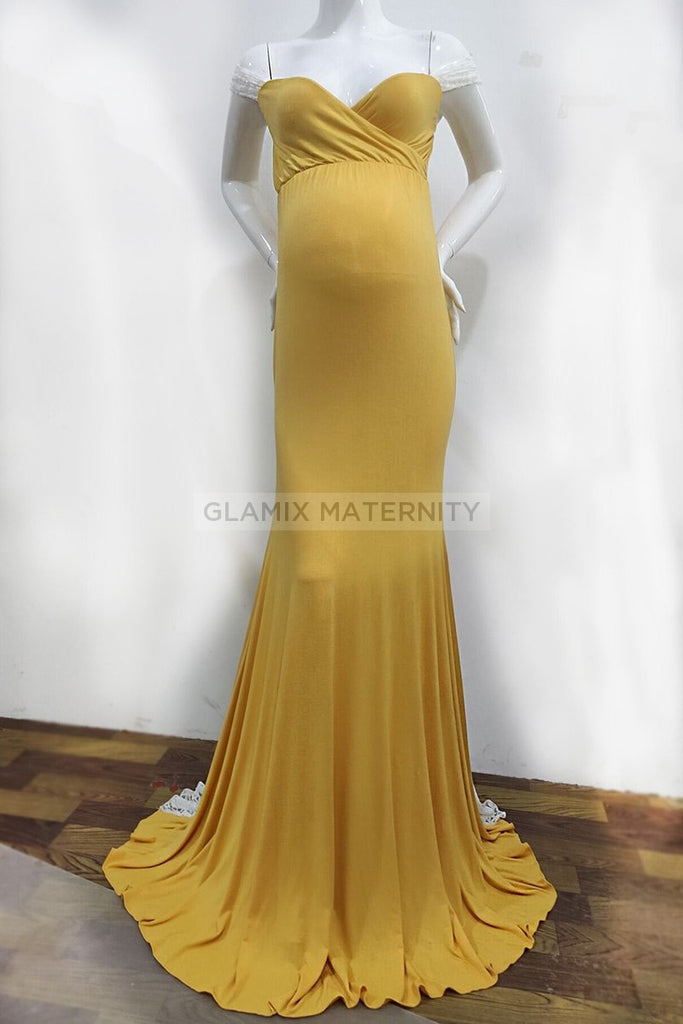 Chic Off-the-shoulder- Sweetheart Mermaid Maternity Dress