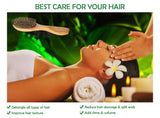 Natural Green Sandalwood Massage Wooden Hair Brush