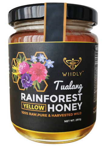 1 Jar of Wild Yellow Tualang Rainforest Honey (10oz/280g)