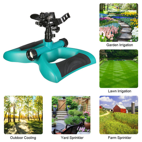 This garden lawn sprinkler can be used for garden, lawn, outdoor, yard, and farm watering irrigation.