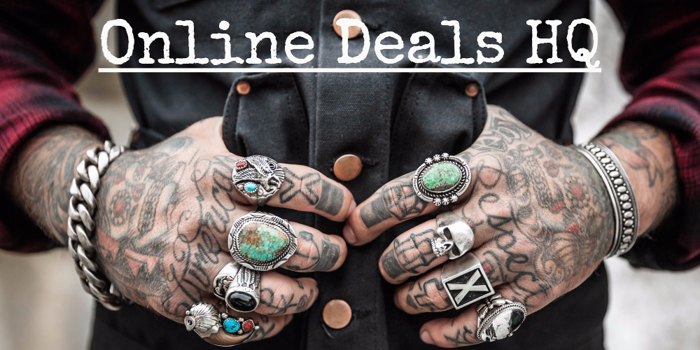 online deals hq biker jewelry, rings, survival and veterans