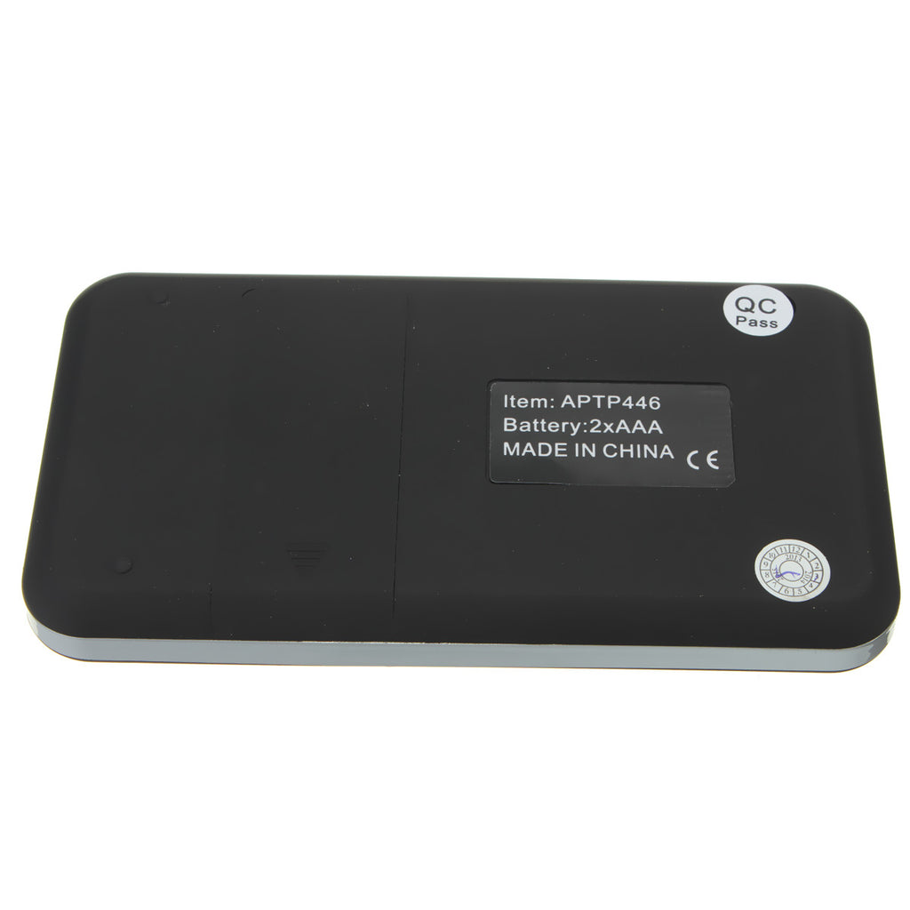 AMPUT 0.01g x 200g Digital Pocket Scale With Auto-Off Overload Protection Function back side view