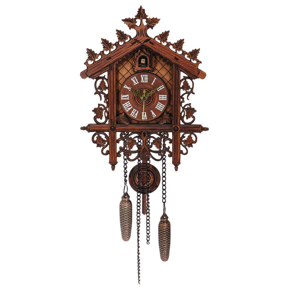 Vintage Handcrafted Wood Cuckoo Wall Clock Tree House