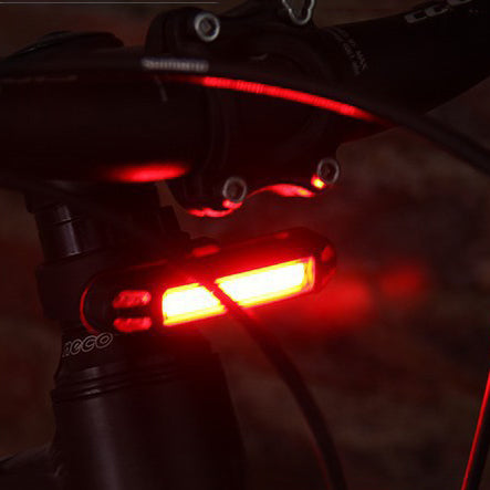 XANES 2 in 1 500LM Bicycle USB Rechargeable LED Bike Front Light Taillight Ultralight Warning Night Light as rear light