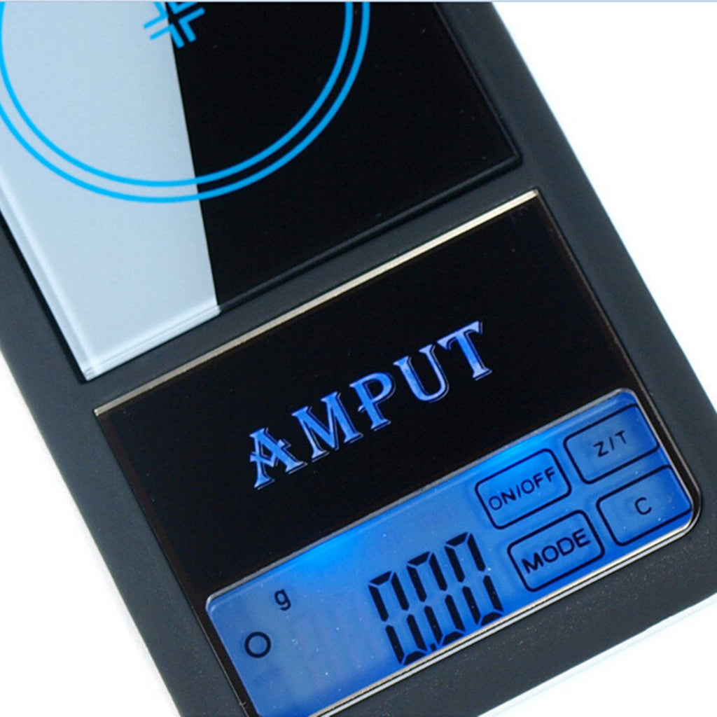 AMPUT 0.01g x 200g Digital Pocket Scale With Auto-Off Overload Protection Function powered on