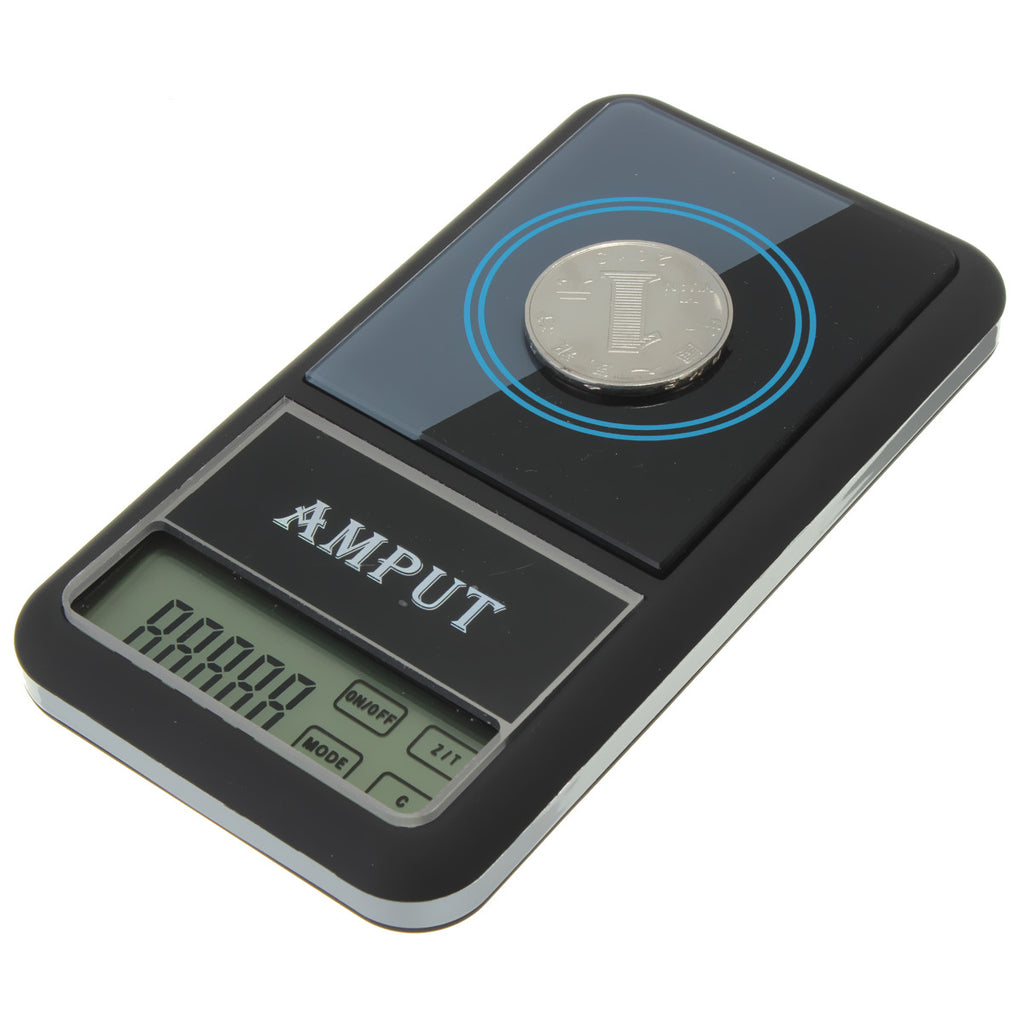 AMPUT 0.01g x 200g Digital Pocket Scale With Auto-Off Overload Protection Function showing accurate measurement