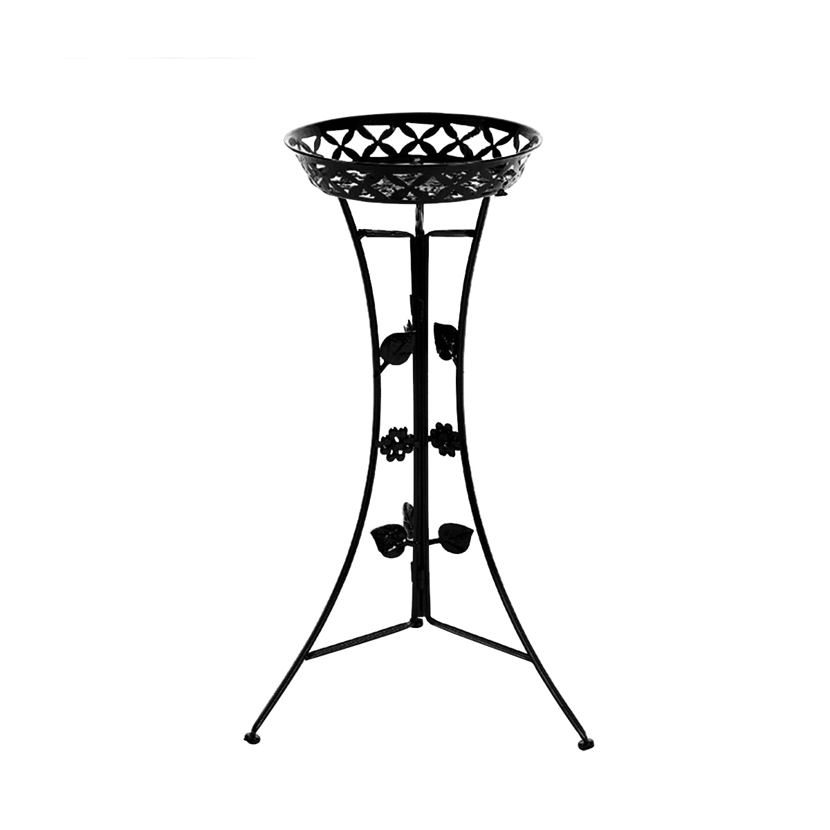 Metal Plant Stand Garden Decorations Outdoor Black