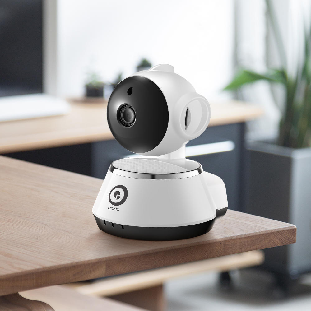 HD WIFI baby camera monitor with two way audio sitting on table