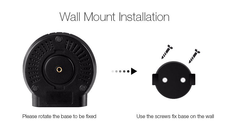 HD WIFI baby camera monitor with two way audio wall mount installation schematic