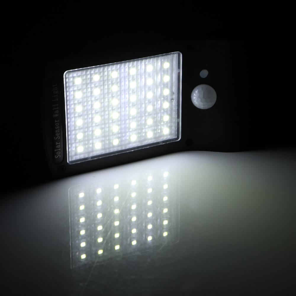 Solar security light provides 36 lights