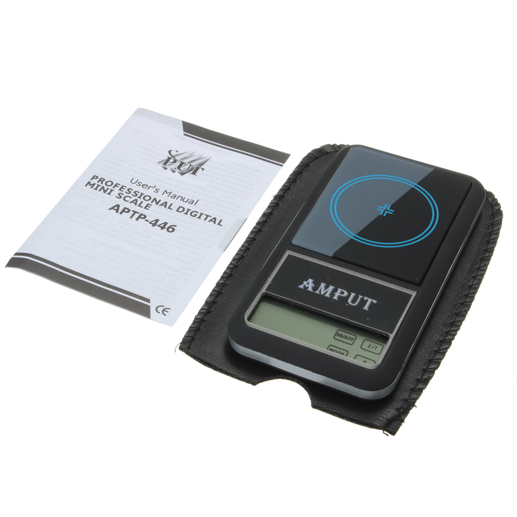 AMPUT 0.01g x 200g Digital Pocket Scale With Auto-Off Overload Protection Function with user manual