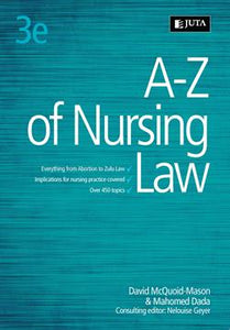 A-Z of Nursing Law 3rd Edition