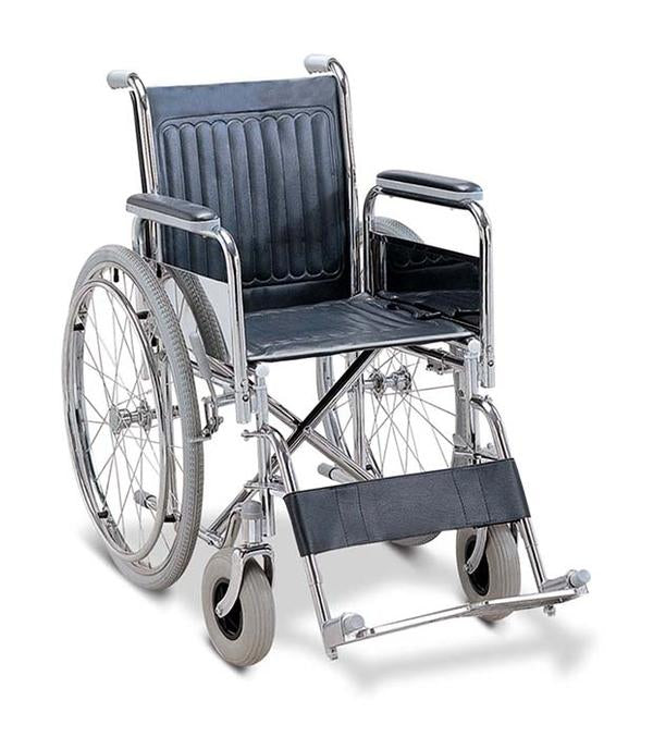 Steel Wheelchair - Chrome - JM109