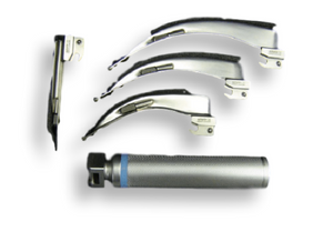 Laryngoscope Set - Universal 4 Blades (+2 Bulbs)